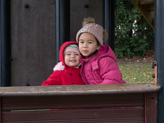 sisters in the park
