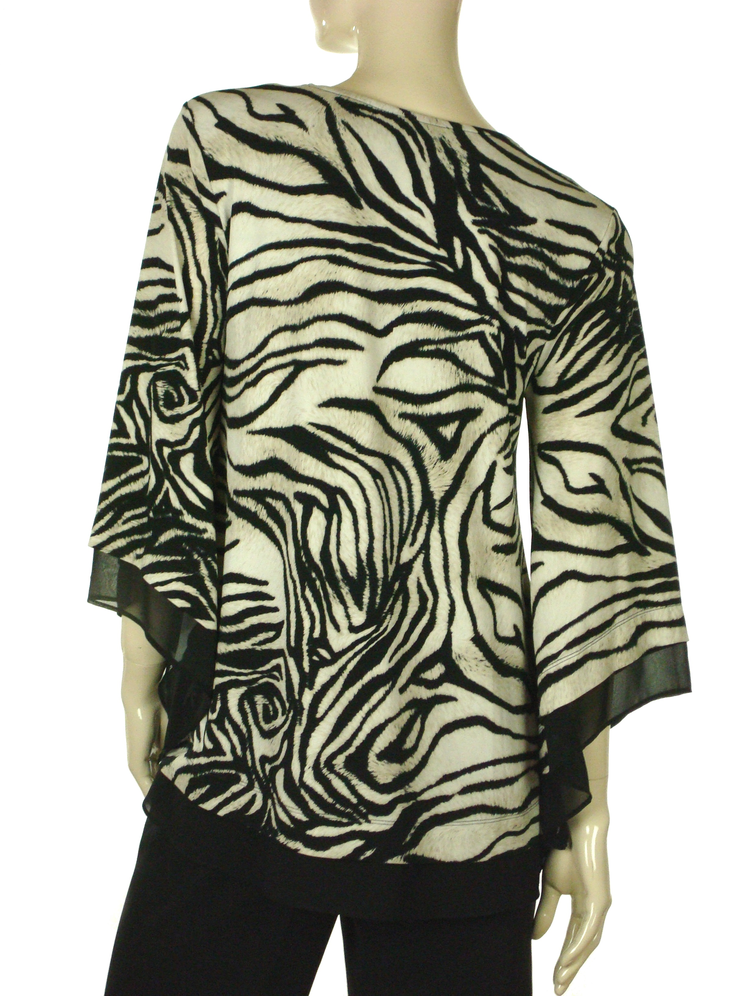 Alfani Womens Black Floral Bell Sleeves Tie-Front Blouse Top S BHFO 2203
