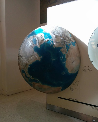 Globe of the Ice Age Earth #newyorkcity #newyork #manhattan #earth #globe #map #iceage #history #latergram