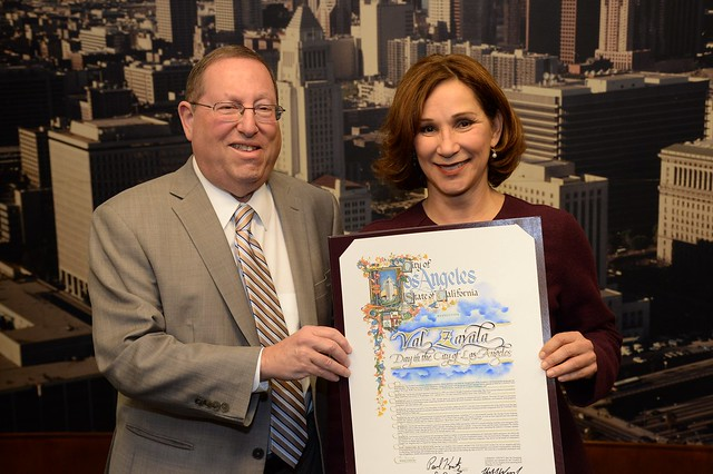 "Declaration of ""Val Zavala Day"" at City Hall"