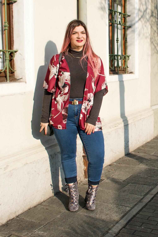 Outfit plus size, kimono Come le ciliegie  (7)