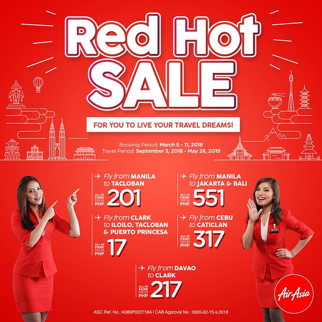 AirAsia Red Hot Sale March 2018