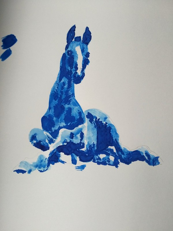 Study of a foal - acrylic paint