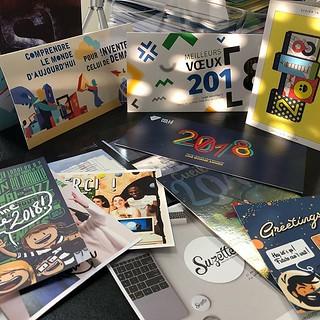 Belle moisson de cartes de vœux cette année, merci à tous les clients, collègues et prestataires qui ont pensé à nous. #voeux #rennes #creativité