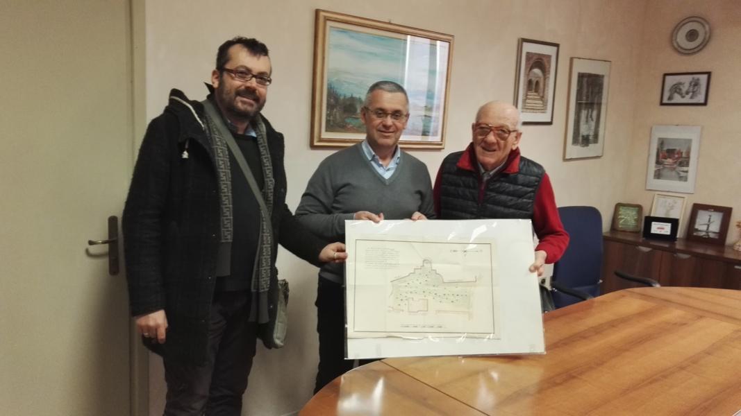 Donata alla biblioteca di Castel Bolognese rara cartina della città