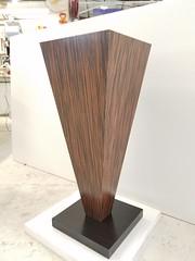 Reconstituted Macassar Ebony IMage Pedestal
