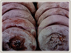 Dried fruits of Diospyros kaki (Asian Persimmon, Japanese Persimmon, Oriental Persimmon, Buah Pisang Kaki in Malay), Feb 28 2018