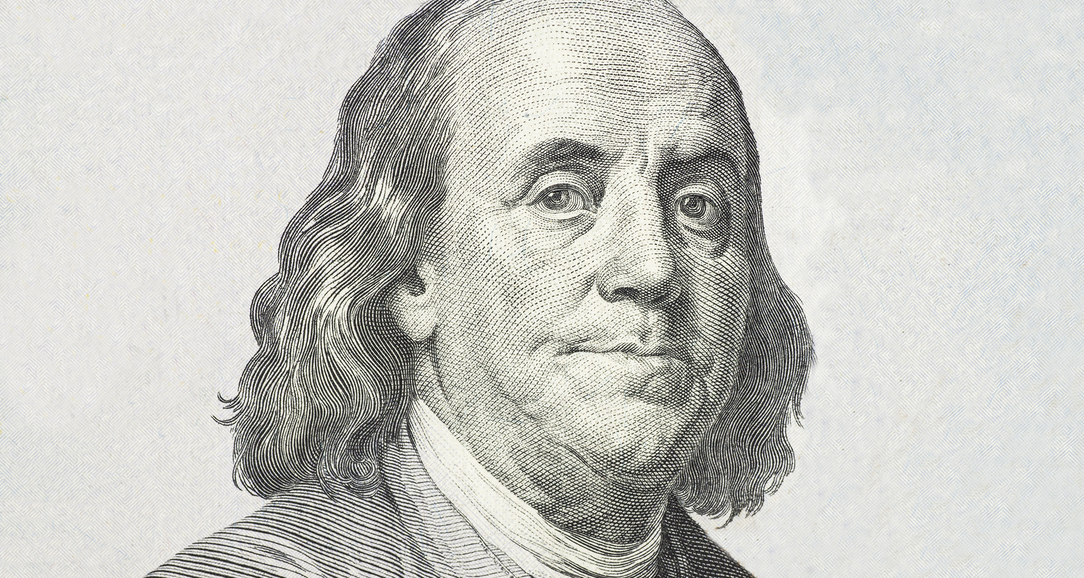 Canada #2649 uses the same H.B.Hall engraving of Joseph-Siffred Duplessis portrait of an older Benjamin Franklin that has been used on the United States $100 bill since 1996.