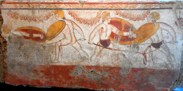 Painted slab of tomb with