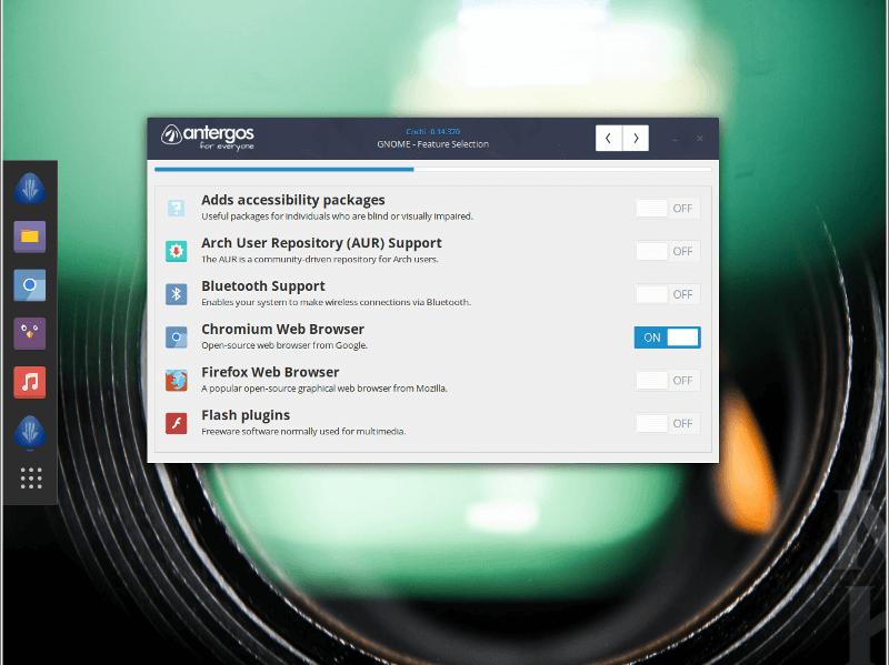 Antergos-features
