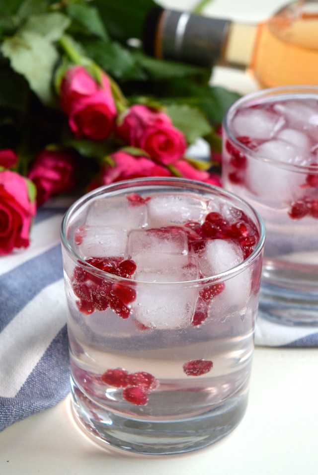 Valentines Day Rose and Pomegranate G&T's #ginandtonic #rose #pomegranate #gin #valentinesday