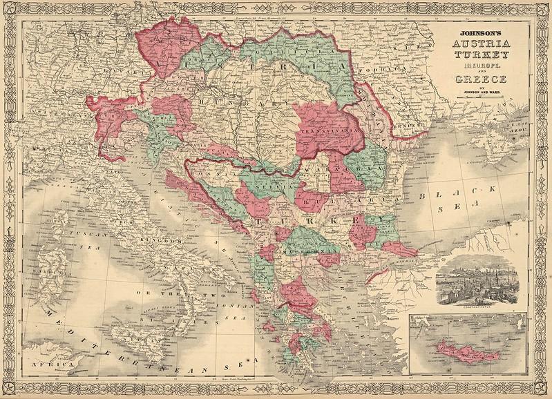 Ward & Alvin Jewett Johnson - Johnson's Austria Turkey in Europe and Greece (1866)
