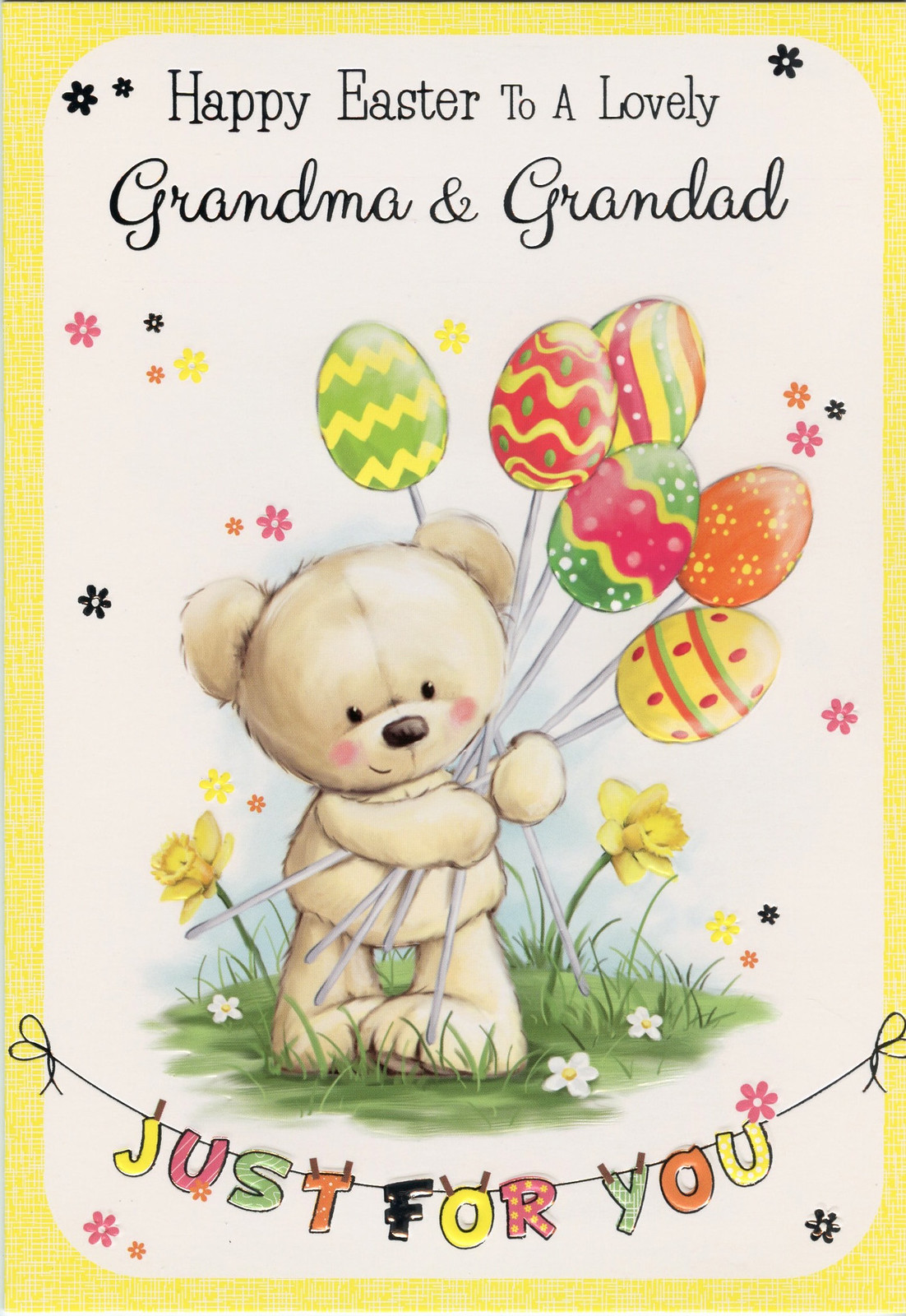 HAPPY EASTER  GRANDCHILDREN EASTER CARD 1ST P/&P GREETING CARD