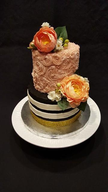 Modern Baby Shower Cake by Shellebelle Designs Cakes