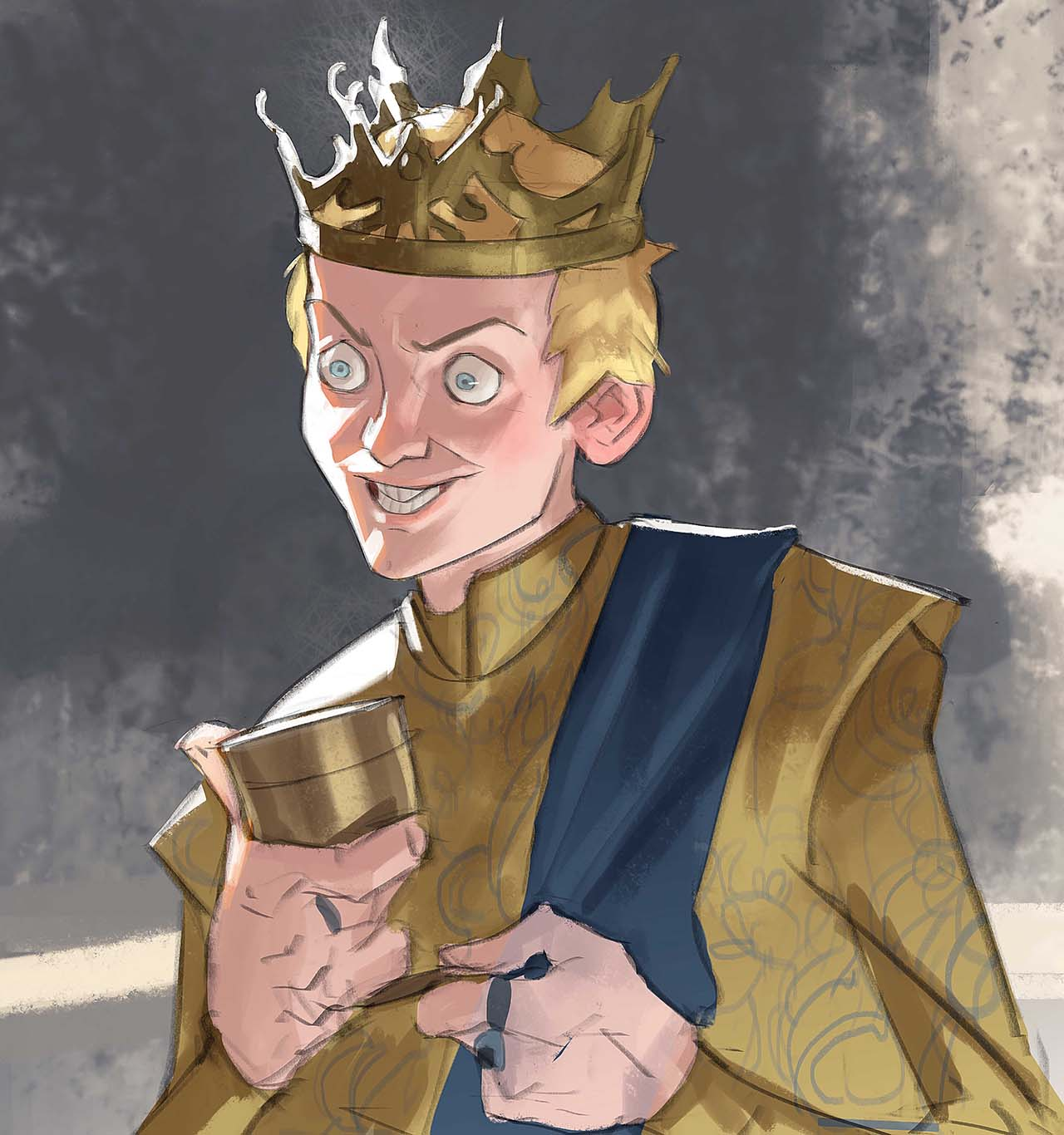 Artist Creates Unique Character Arts From Game Of Thrones – Joffrey Baratheon Character Art By Ramón Nuñez