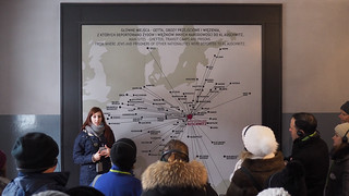 Map of deported people at Auschwitz