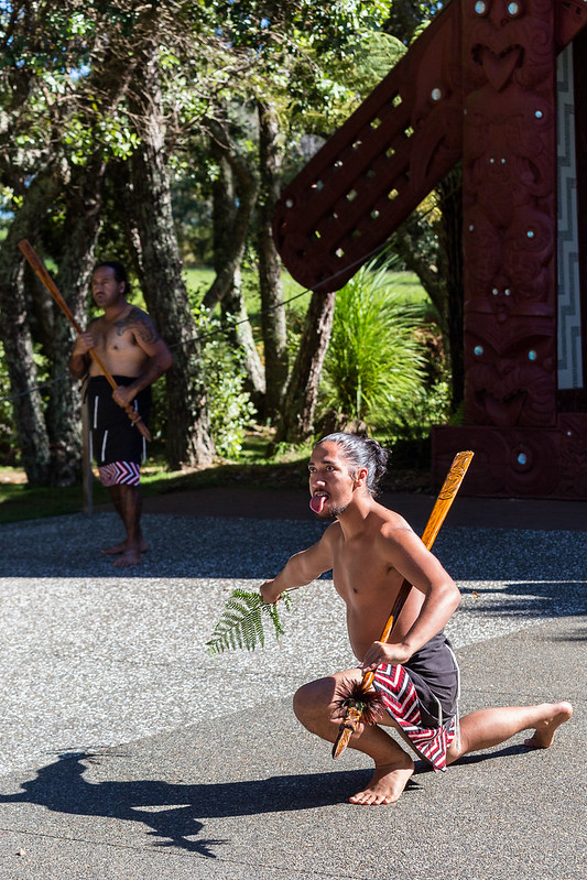 Welcome Ceremony at Waitangi