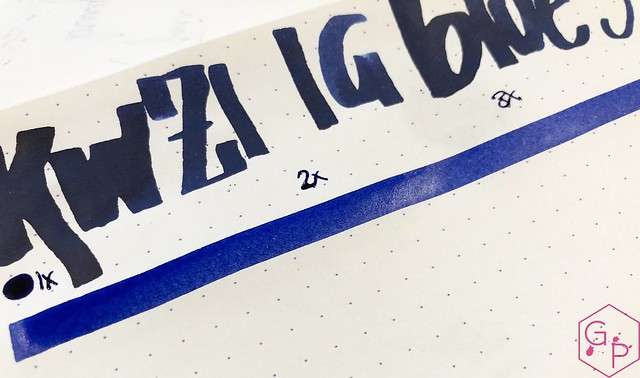 Ink Shot Review KWZ Ink IG Blue #3 @BureauDirect 2