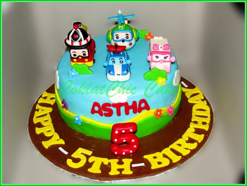 Cake Robocar Poli - ASTHA 15 cm
