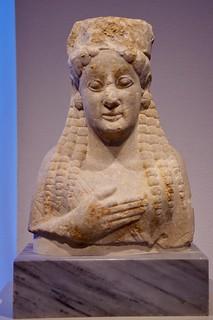 Upper Body of a Girl Statue