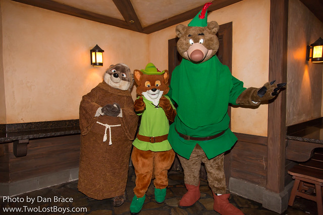 Meeting Robin Hood, Little John and Friar Tuck