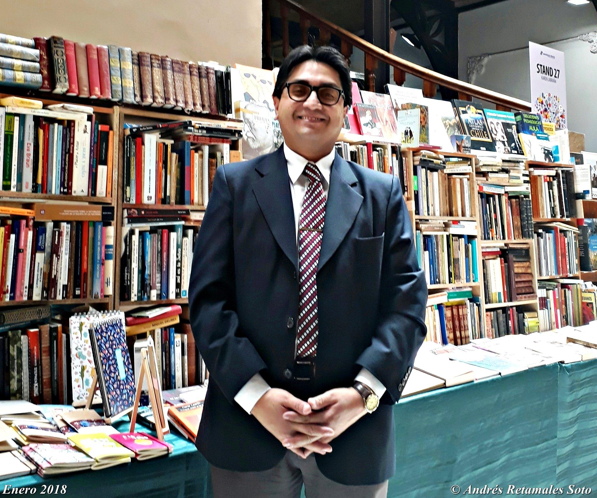 Abogado Andrés Retamales. Feria del Libro de la Universidad Mayor, Santiago de Chile, Enero 2018
