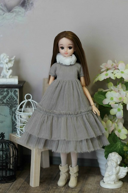 Bohostyle dress for Momoko