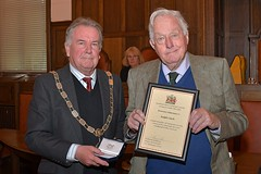 Cllr William Wallace and Ralph Clark
