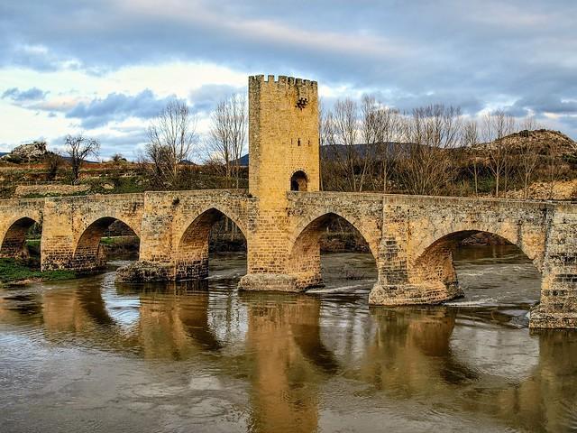 Puente romano sobre el Ebro. Frias. Burgos.