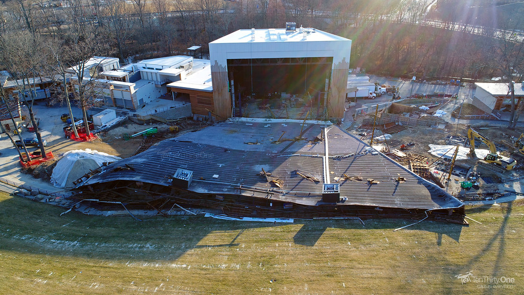 Merriweather Post Pavilion's Roof Collapses