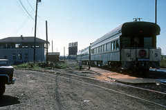 MP business cars near Dallas Union Station - October 1976