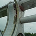 Falkirk Wheel on the wettest day of 2017