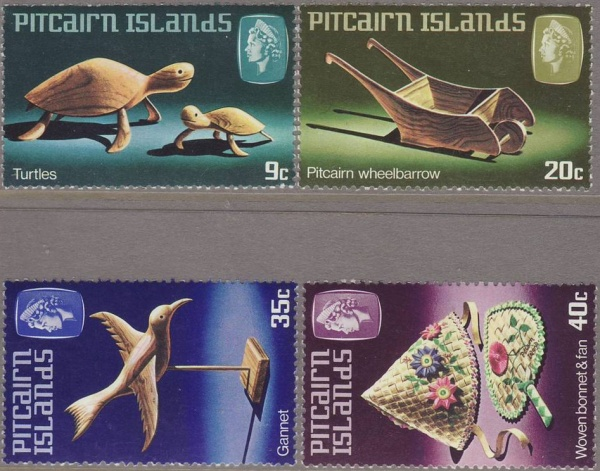 Známky Pitcairnove ostrovy Ručné práce nerazená séria