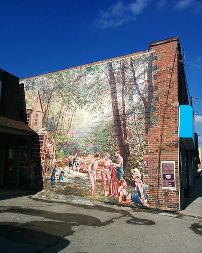 The Old Swimming Hole, John Kuna (1) #toronto #etobicoke #islingtoncitycentrewest #mural #dundasstreetwest #johnkuna #latergram