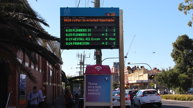 Route 624 on a Smartbus display