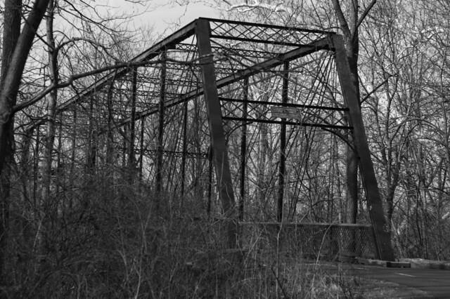Walking path bridge