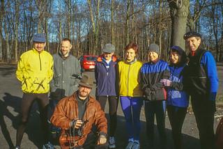 Laufgruppe am Stadtwald-Parkplatz Gleueler Straße