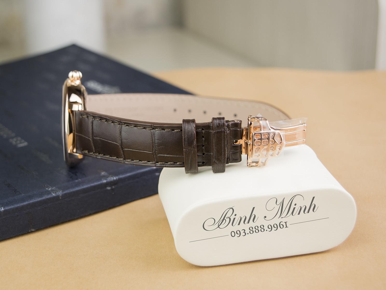 Đồng hồ Frederique Constant Slimline Moonphase Manufacture Trăng sao máy inhouse mới nhất 2017, đủ hộp sổ thẻ, mới 100%