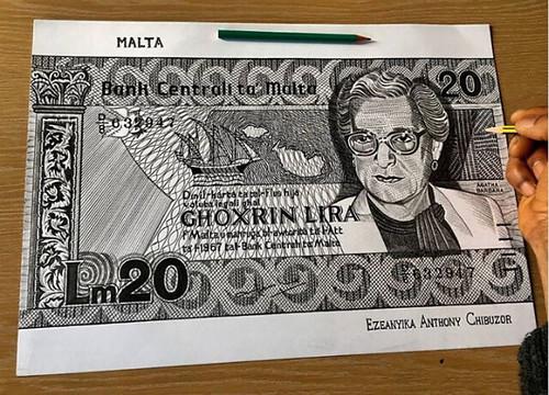 TonyArtWorks Malta banknote