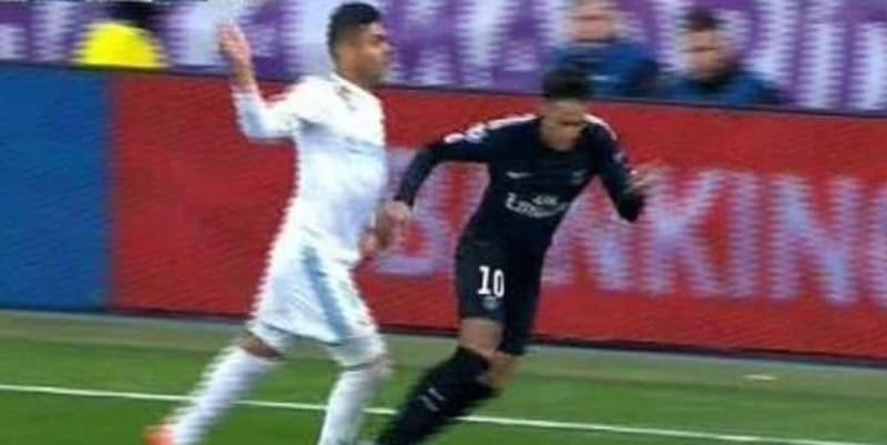 Laga Real Madrid Lawan PSG, Neymar Seharusnya Sudah Diusir di Menit 63