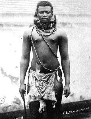 King Dinuzulu kaCetshwayo, circa 1883.