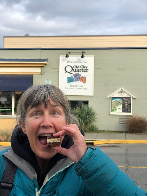 Nanaimo - Linda with nanaimo bar
