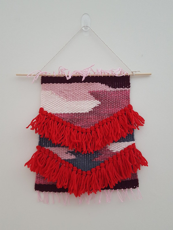 January's weaving challenge is done and up on the wall