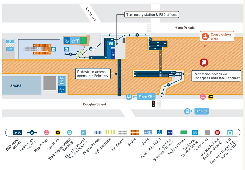 New Noble Park station diagram (from PTV brochure)