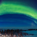 Auroral Oval in Twilight Panorama by Amazing Sky Photography