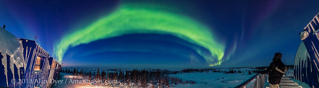 Auroral Oval in Twilight Panorama