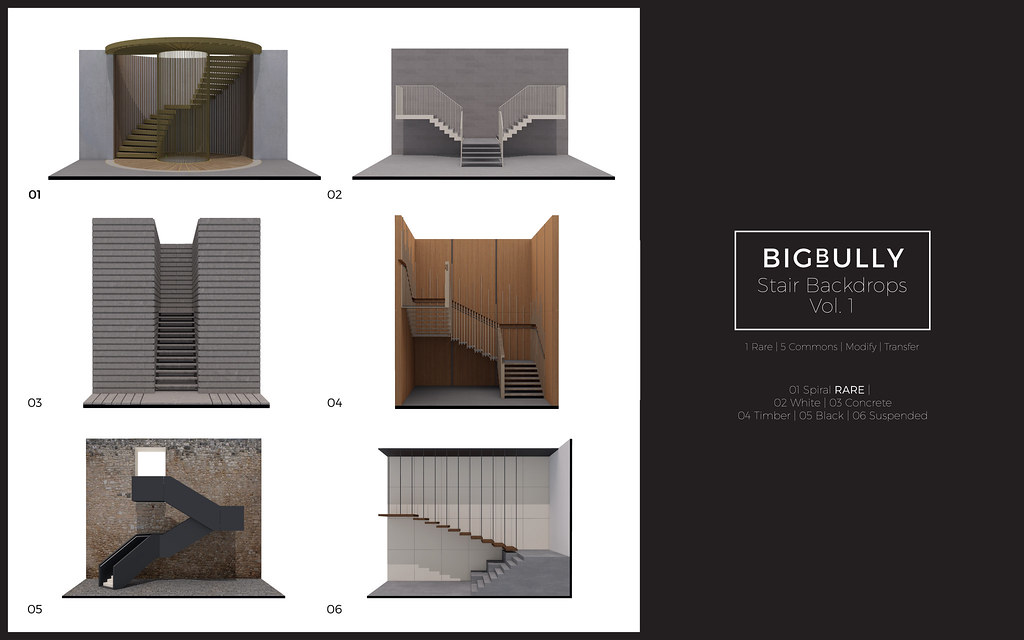 BIGBULLY Stair Backdrops Vol. 1 Gacha