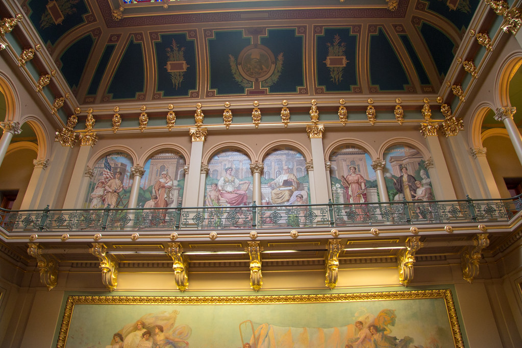 Artwork inside the Iowa State Capitol Building