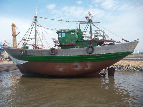 Trawler going back out.