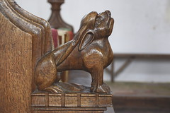bench end: goat (15th Century)